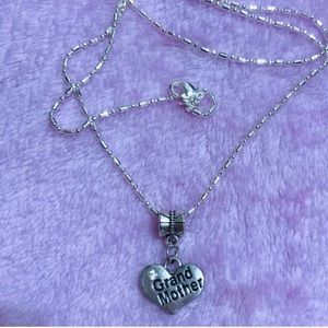 Crystal Grandmother Sterling Silver Necklace